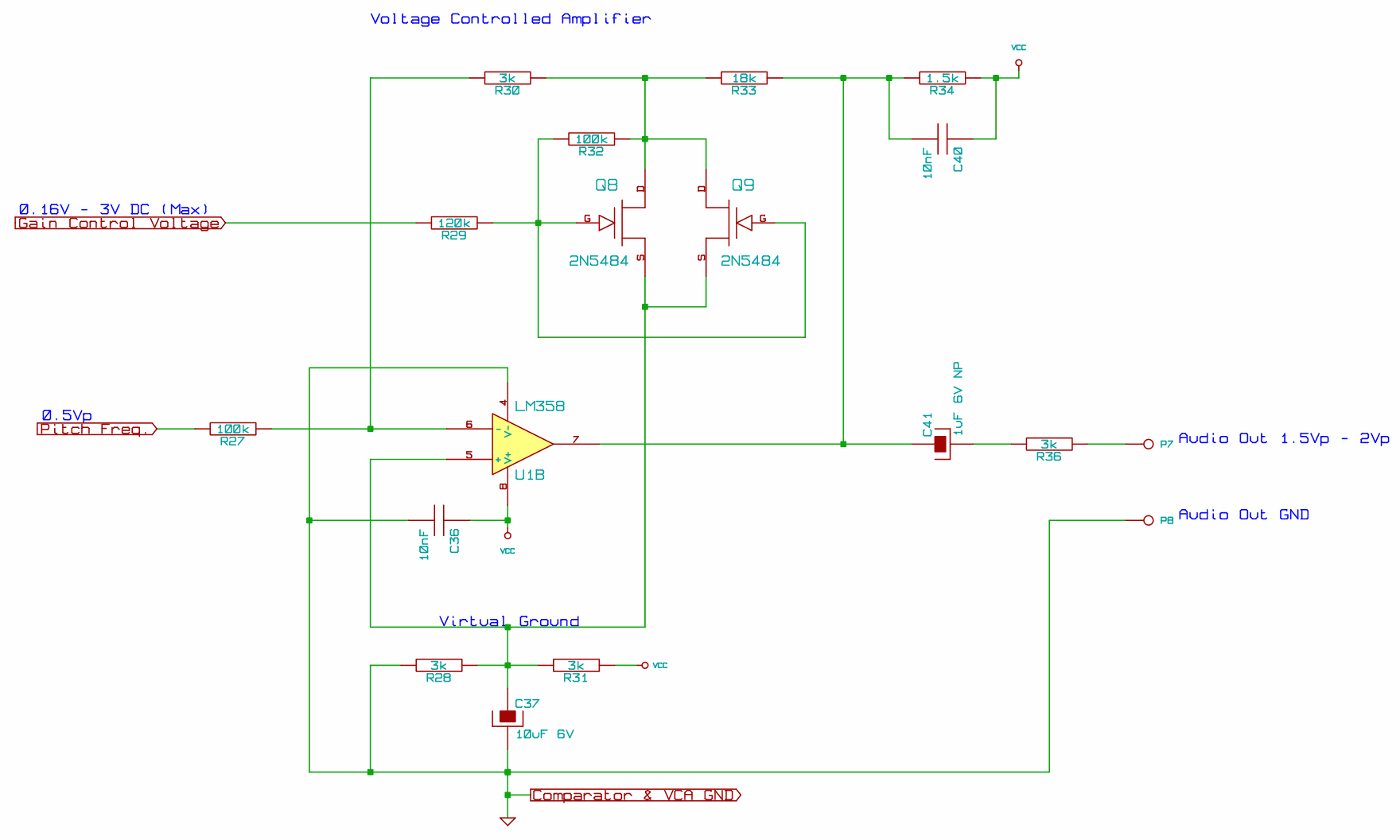 Building A Theremin Deak Software Voltage Controlled Amplifier Circuit Design Figure 16 Click Image To Enlarge