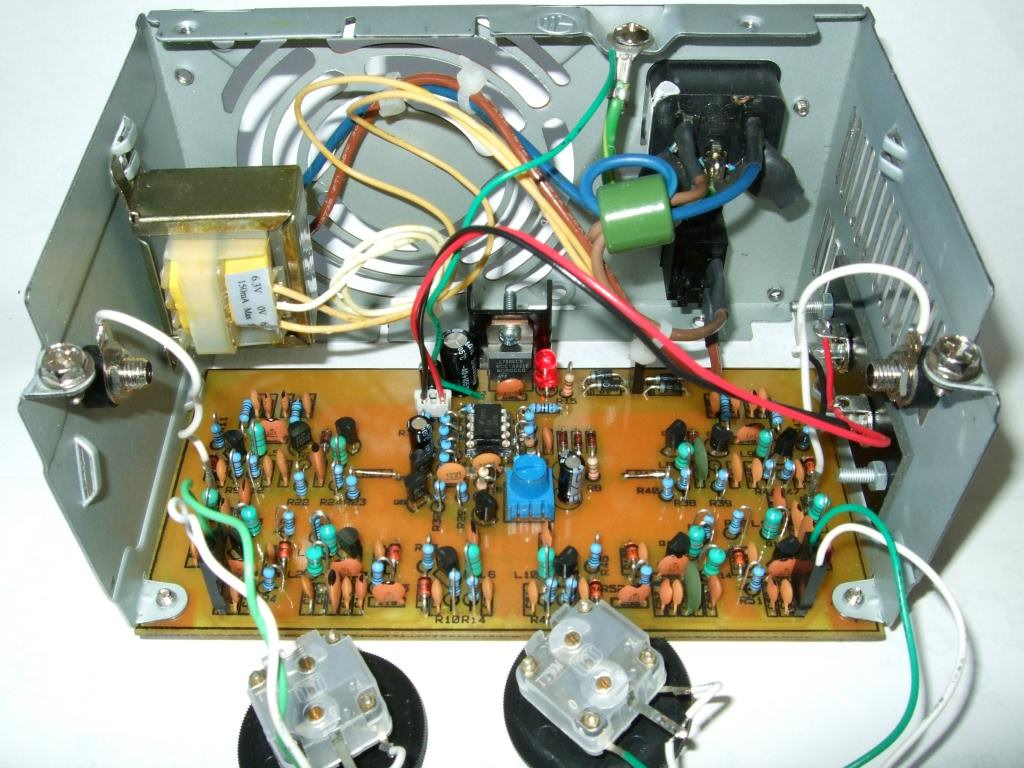 Building A Theremin Deak Software Circuit Diagram Figure 37 Completed Mounted In The Atx Power Supply Chassis